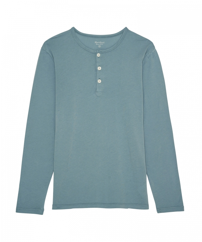 Verdigris light jersey kids Henley