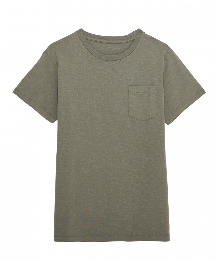Tee-shirt kid col rond en coton slub