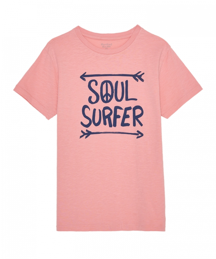 'Soul Surfer' pink kid tee-shirt