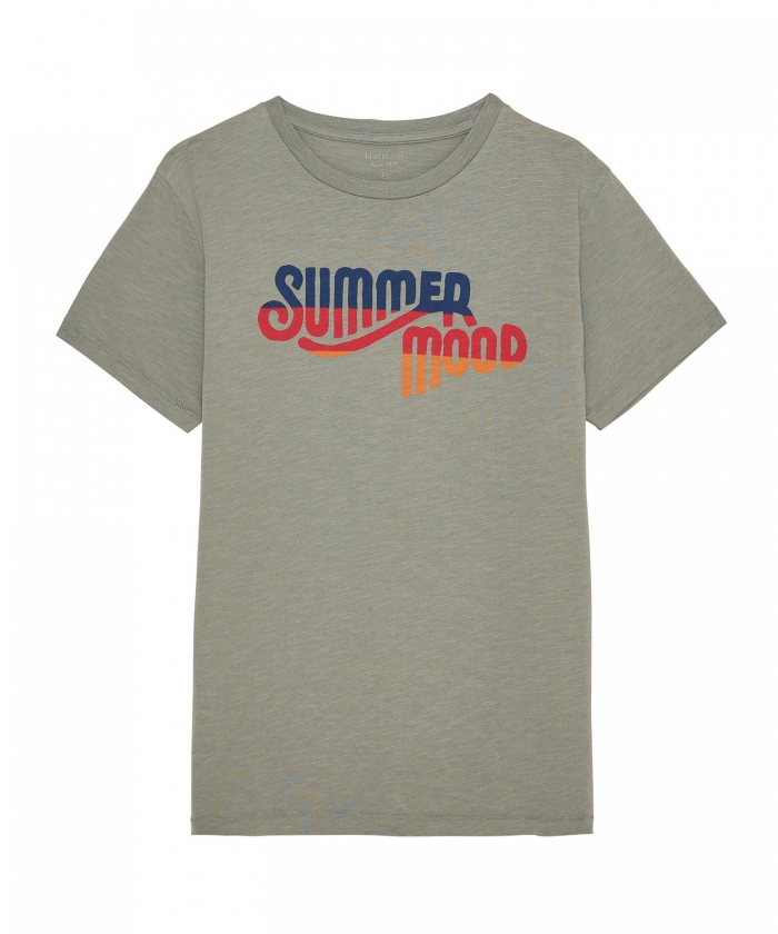 'Summer Mood' logo verdigris kid tee-shirt