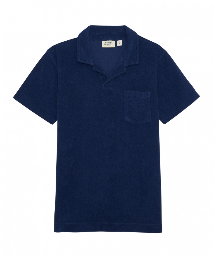 Towelling cobalt polo