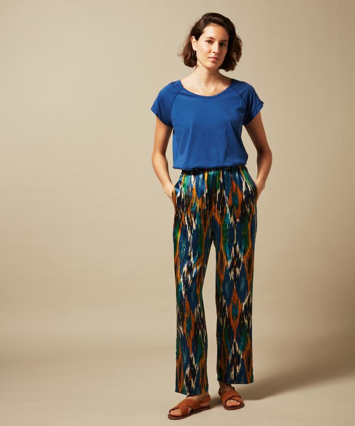 Tee-shirt Telly en coton léger bleu