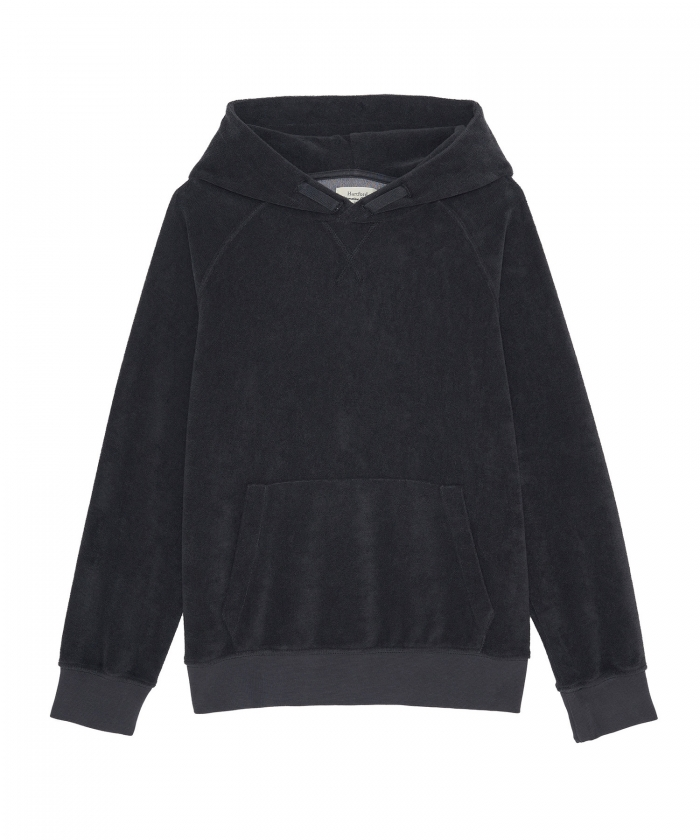 Charcoal towelling kid hoody