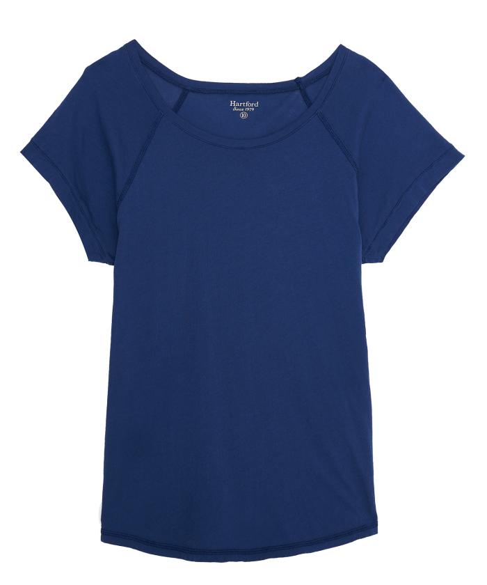 Tee-shirt Telly en coton bleu