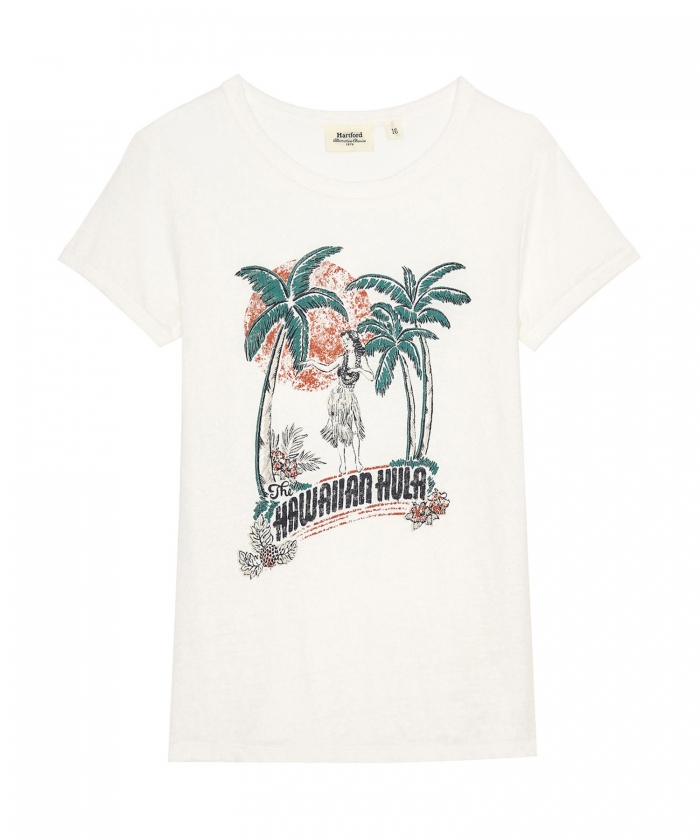 Tee-shirt imprimé 'The Hawaiian Hula'