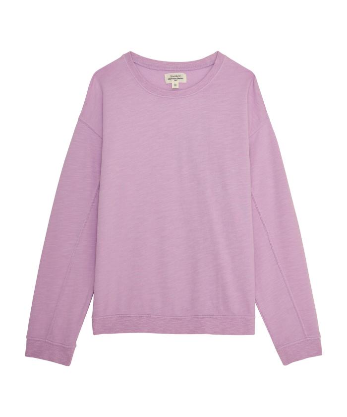 Sweatshirt enfant Taryll en coton lavande