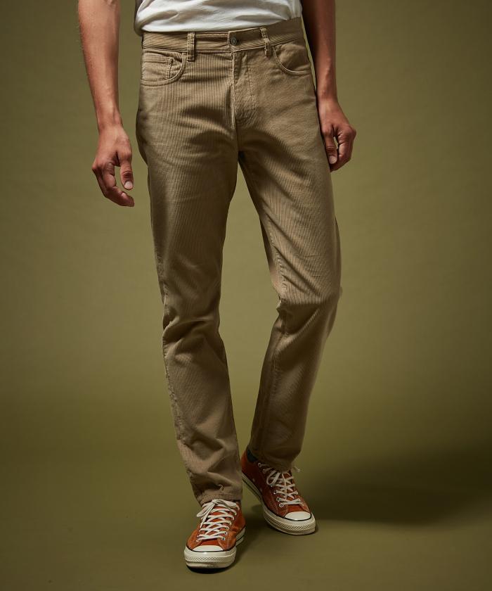 Pantalon Tim 5-poches en velours