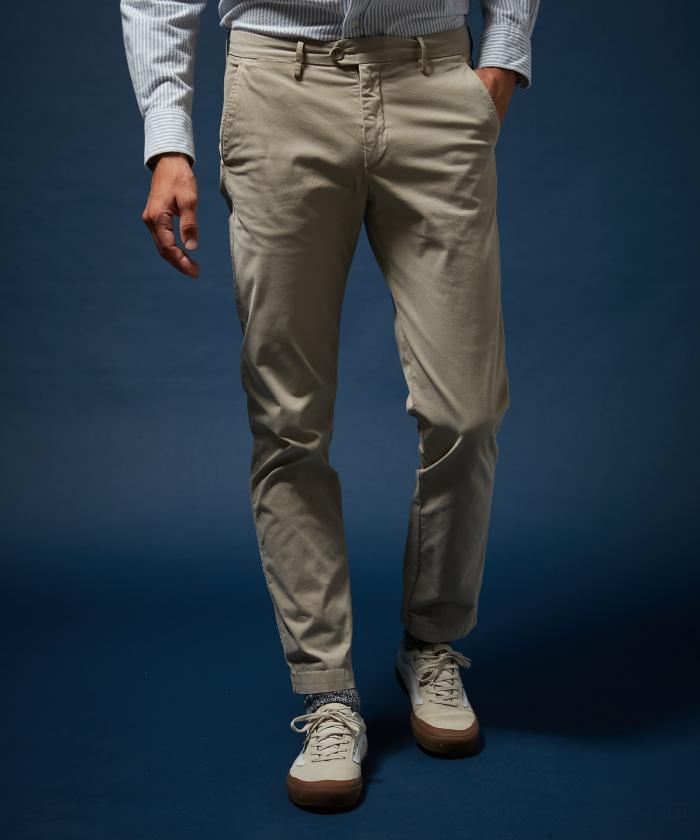 Pantalon Tobby en coton piqué sable