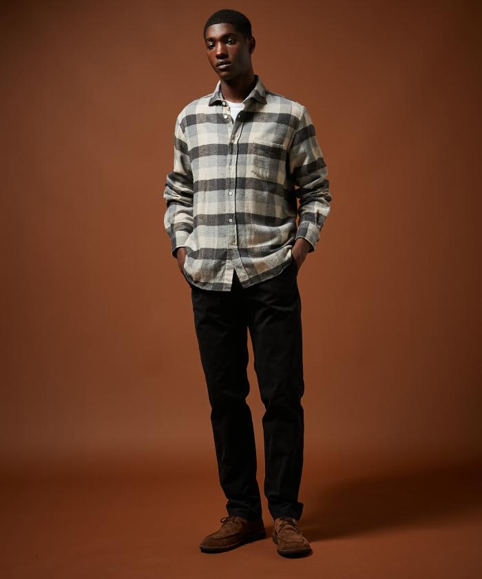Pantalon Tobby en coton piqué carbone