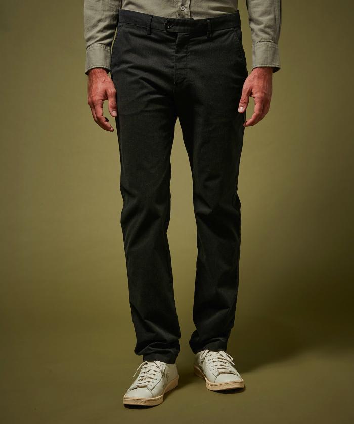 Pantalon Tobby carbone en coton caviar