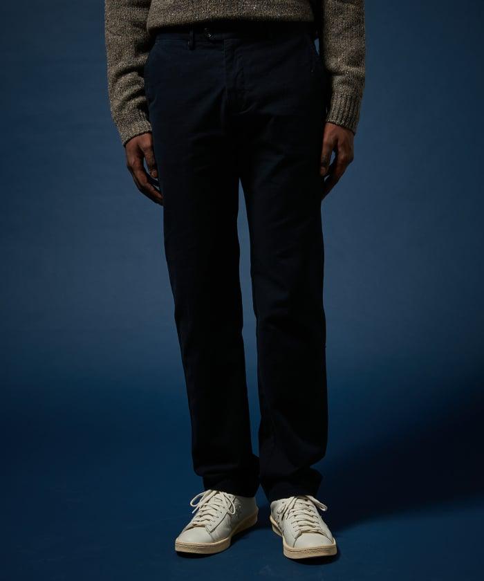 Pantalon Tobby pied-de-poule surteint bleu