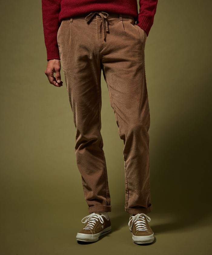 Pantalon Tanker en velours côtelé beige
