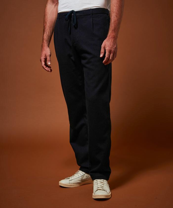 Pantalon Tanker marine en laine