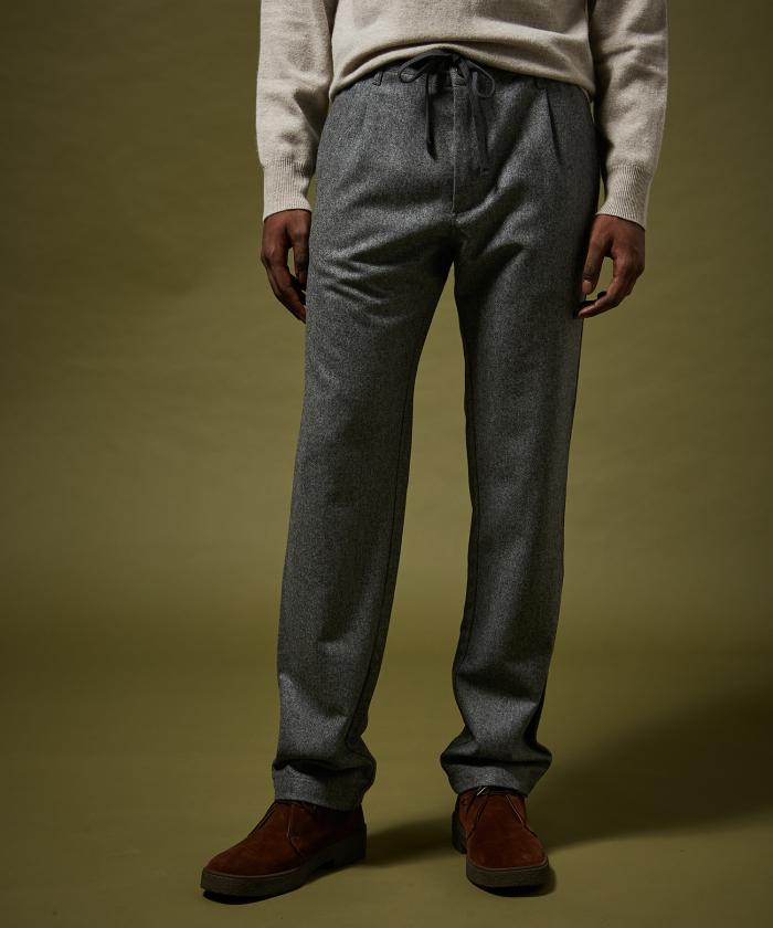 Pantalon Tanker en laine gris
