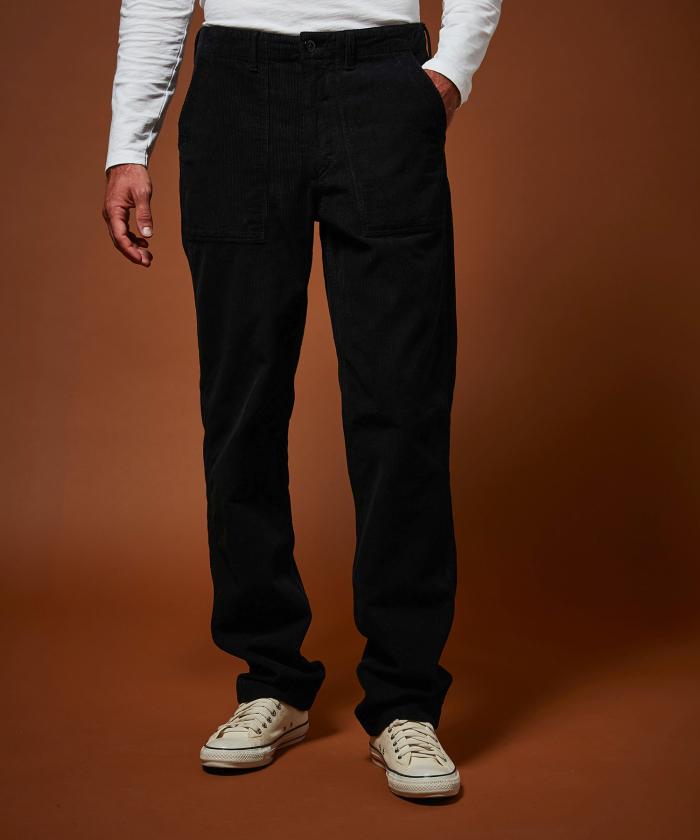 Pantalon Fatigue en velours côtelé marine