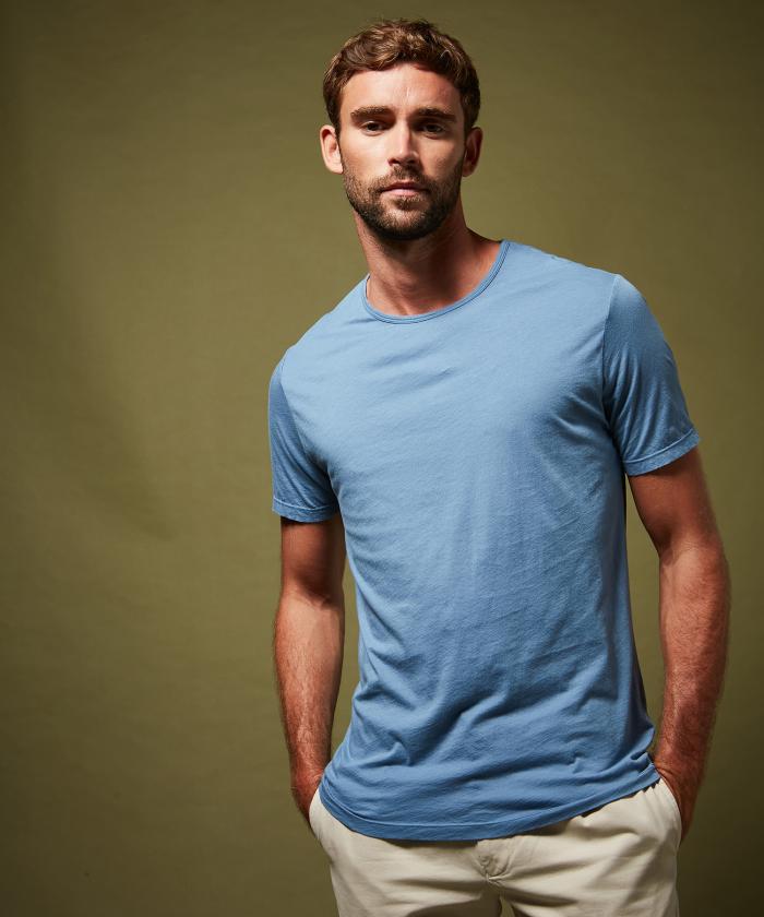 Tee-shirt en light jersey bleu ciel