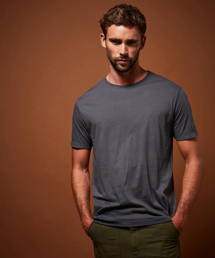 Tee-shirt en light jersey bleu petrole