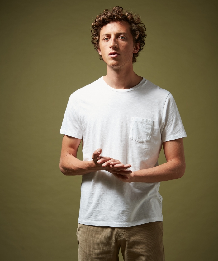 Tee-shirt en coton slub blanc