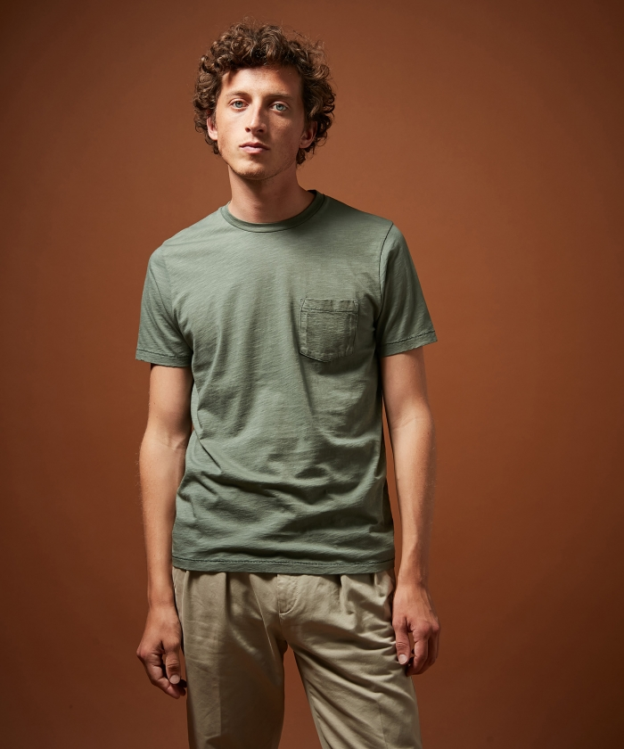 Tee-shirt en coton slub eucalyptus