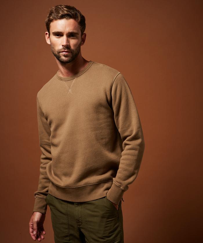 Sweatshirt molleton caramel