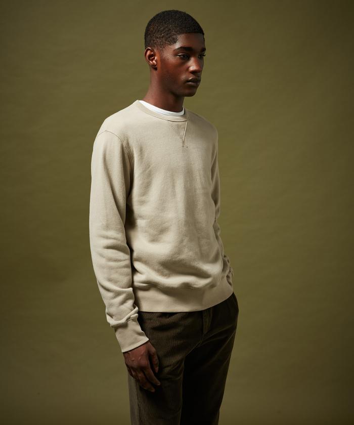 Sweatshirt molleton beige