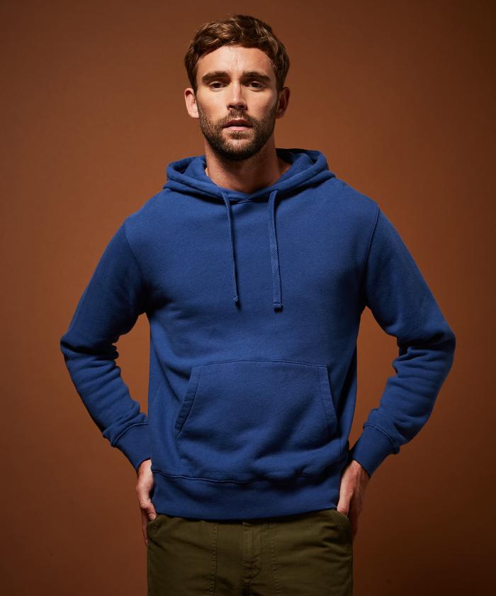 Sweatshirt à capuche molleton bleu