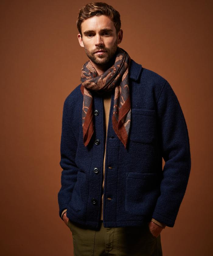 Foulard en laine Panthère
