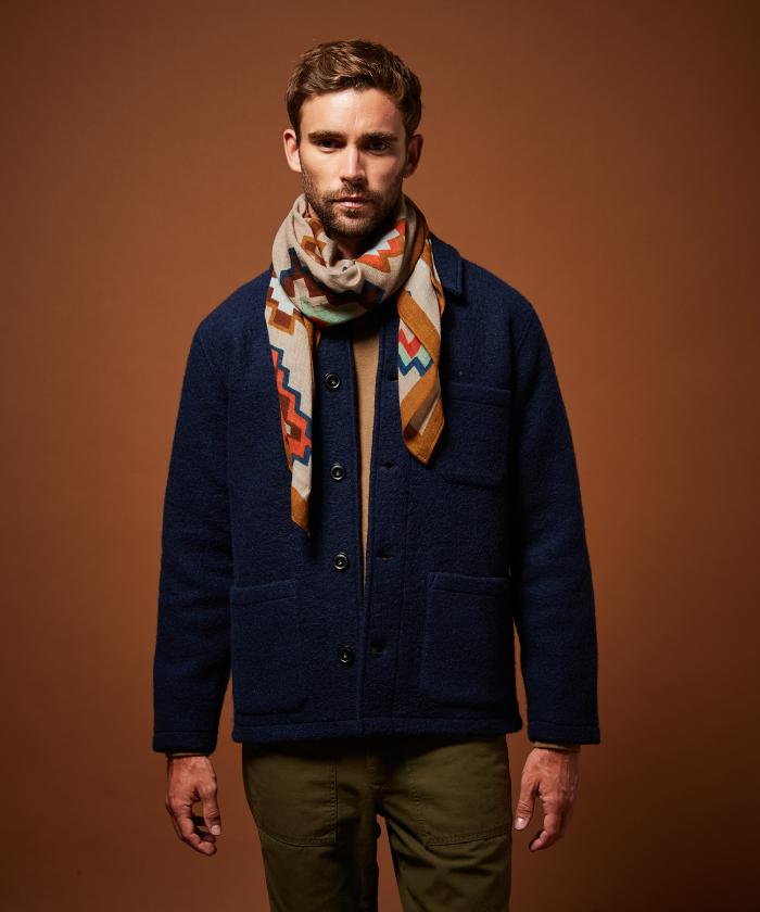 Foulard en laine losanges