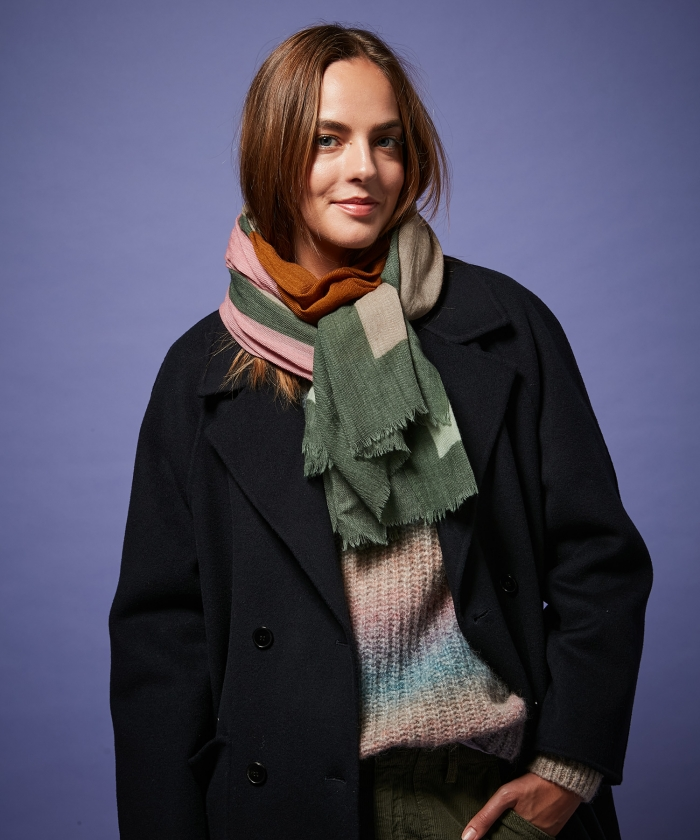 Army abstract wool scarf