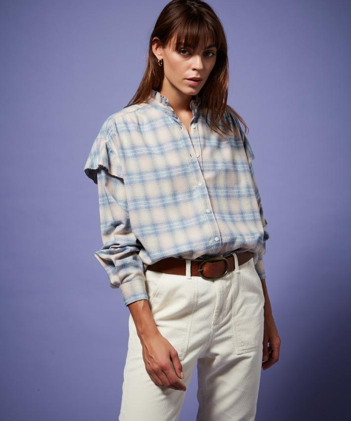 Chemise oversize Caroline à carreaux