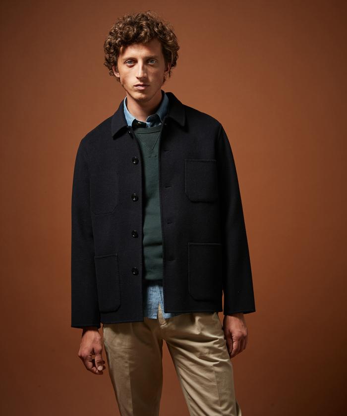 Manteau court Jay en laine double face