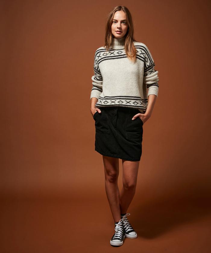 Jine black corduroy skirt