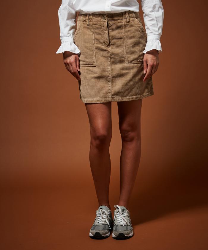 Jine beige corduroy skirt
