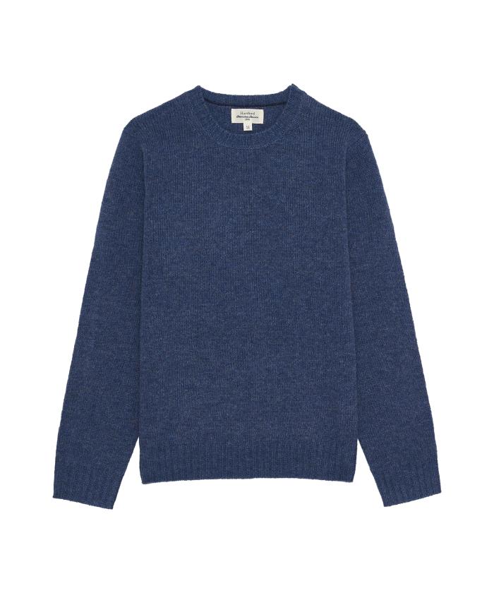 Pull enfant en laine shetland denim