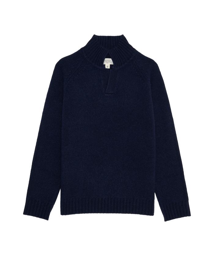 Pull enfant col polo en laine et cachemire