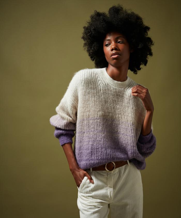 Pull Maeve en laine dégradée