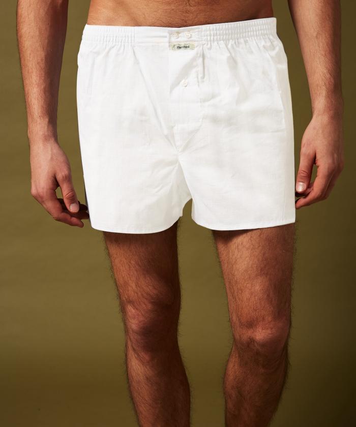 Caleçon blanc en coton