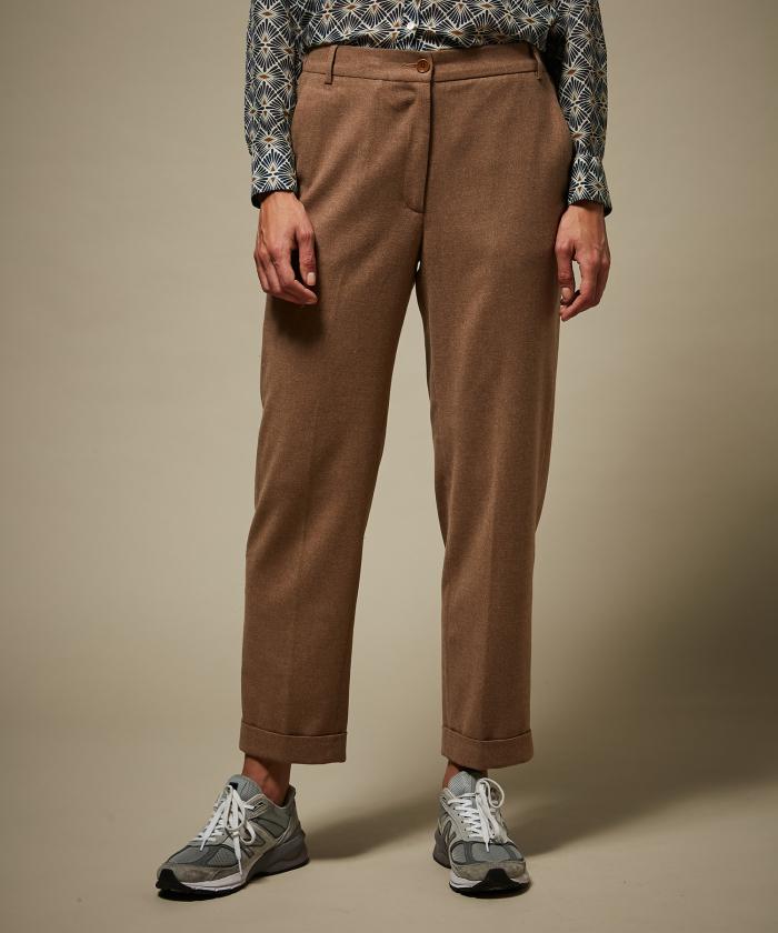 Pantalon Pionnier en laine Camel