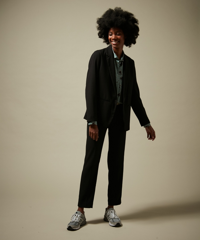 Pantalon Pirouette en crêpe noir