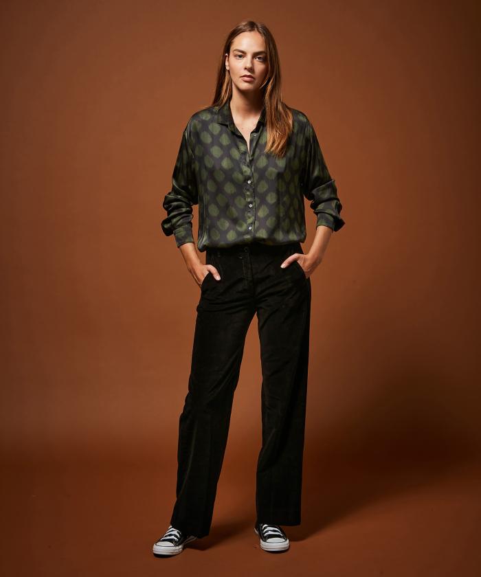 Pantalon Prago en velours noir