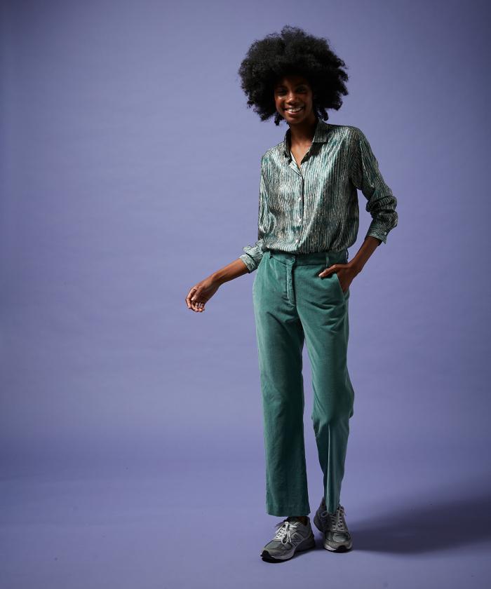 Pantalon Premier en velours amande