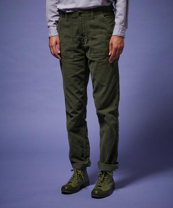 Pantalon Parvine en velours army