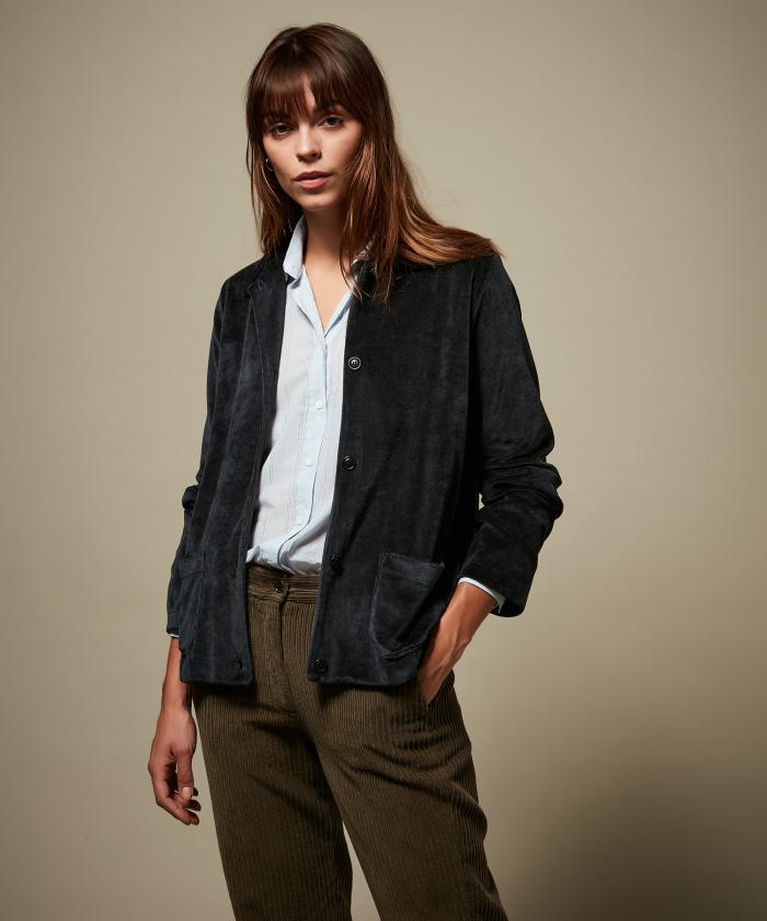 Taylon velvet fleece jacket