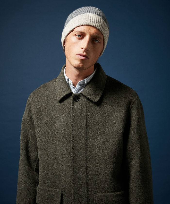 Bonnet en laine et cachemire gris