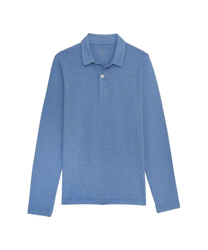 Polo en coton flammé bleu ciel kids