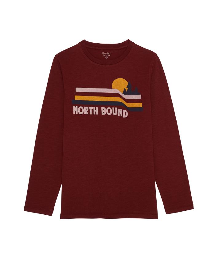 Tee-shirt 'Northbound' bordeaux