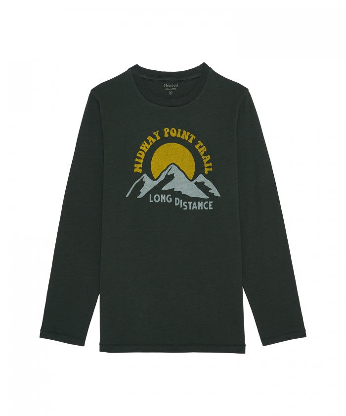 Tee-shirt 'Trail' vert