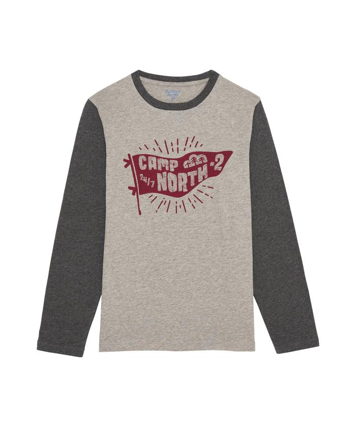 Tee-shirt 'Camp North' gris