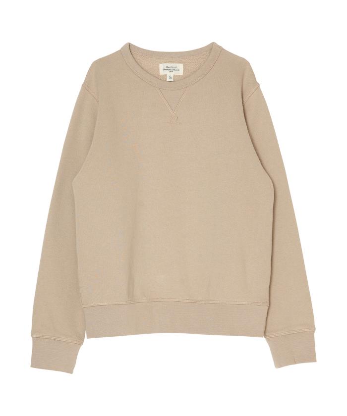 Beige brushed fleece sweatshirt