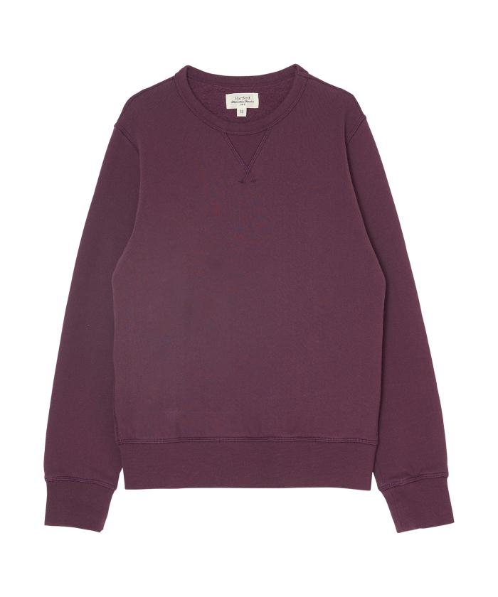 grape brushed fleece sweatshirt